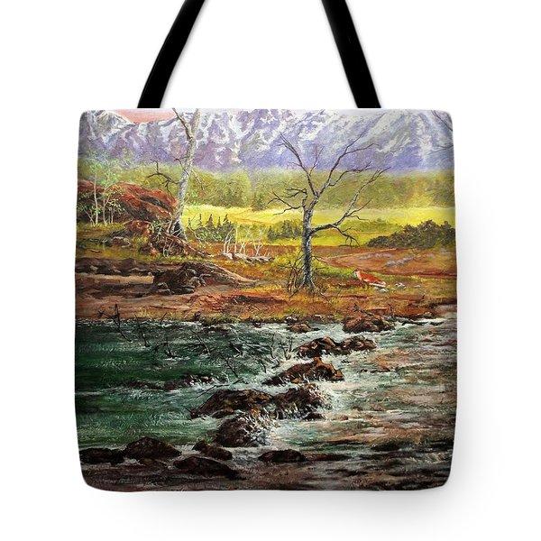 Lowwater Crossing  Tote Bag