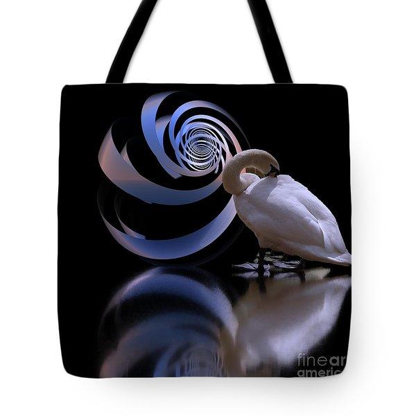 Loxodrome And Swan Tote Bag