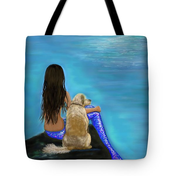 Tote Bag featuring the painting Loyal Loving Buddy by Leslie Allen