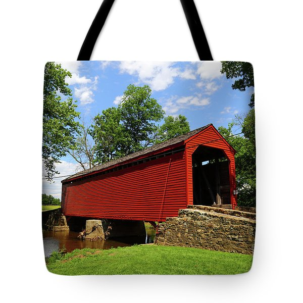 Loys Station Covered Bridge Frederick County Maryland Tote Bag