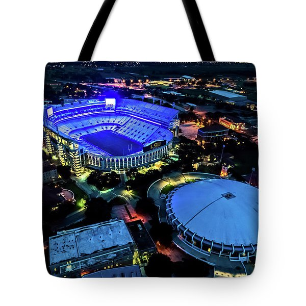 Lsu Tiger Stadium Supports Law Enforcement Tote Bag