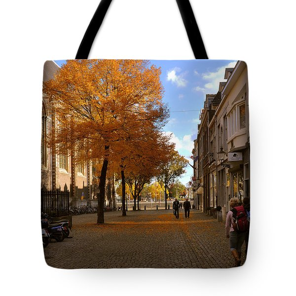 Little Lady Mary Square In October Maastricht Tote Bag by Nop Briex