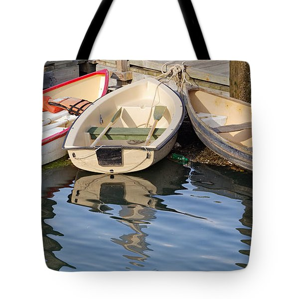 Tote Bag featuring the photograph Lubec Dories by Peter J Sucy