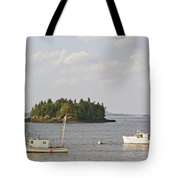 Lubec Harbor Looking North Tote Bag