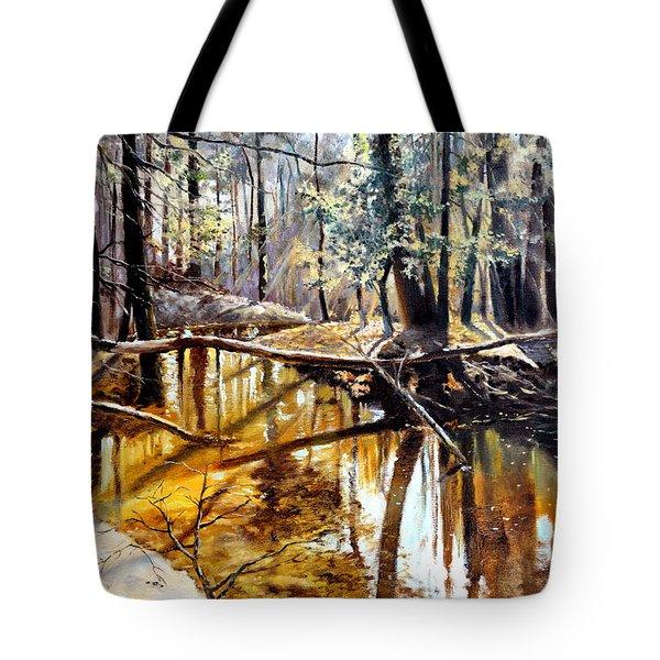 Lubianka-2-river Tote Bag by Henryk Gorecki
