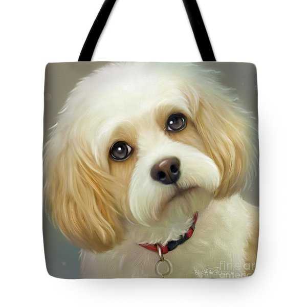 Tote Bag featuring the painting Lucas Cavachon by Catia Lee