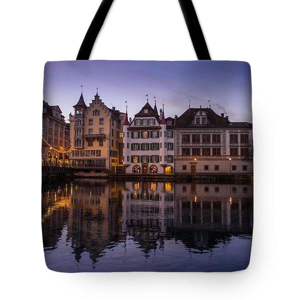 Lucerne On A Sunday Morning Tote Bag