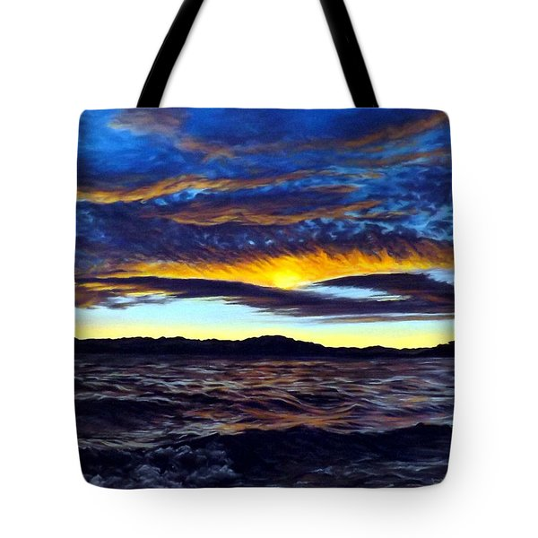 Lucerne Sunset Tote Bag by Linda Becker