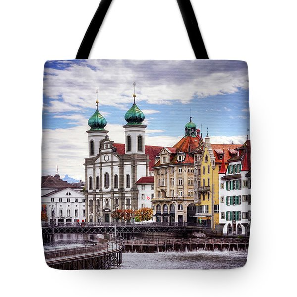 Tote Bag featuring the photograph Lucerne Switzerland  by Carol Japp