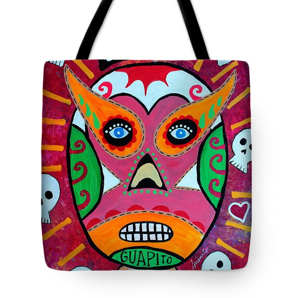 Tote Bag featuring the painting Lucha Libre by Pristine Cartera Turkus