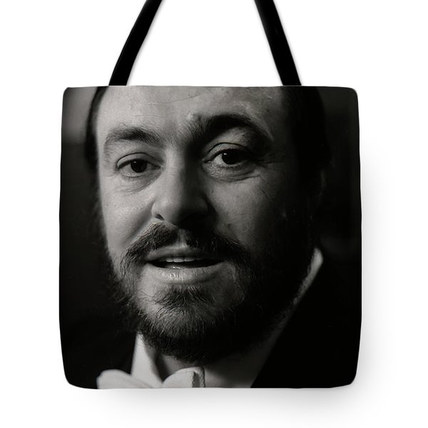 Tote Bag featuring the photograph Luciano Pavarotti by KG Thienemann