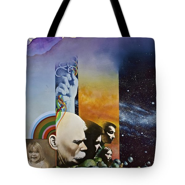 Tote Bag featuring the painting Lucid Dimensions by Cliff Spohn