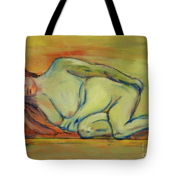 Tote Bag featuring the painting Lucien Who? by Paul McKey