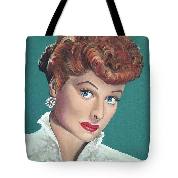 Lucille Ball Tote Bag by Tom Carlton