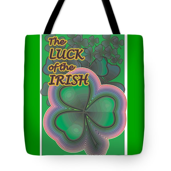 Luck Of The Irish Tote Bag by Sherril Porter