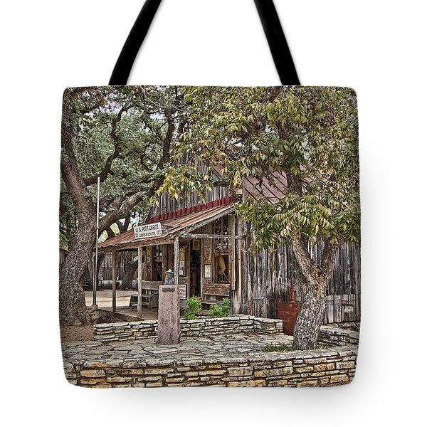 Luckenbach Post Office And General Store_3 Tote Bag