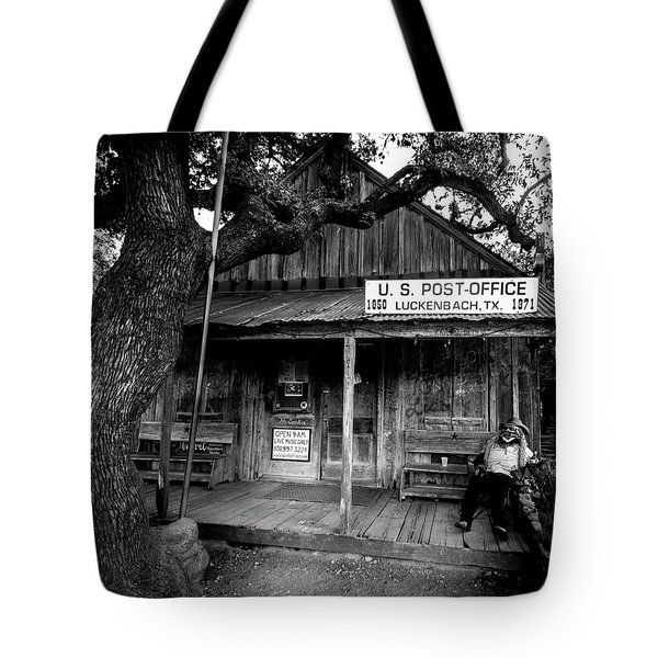 Tote Bag featuring the photograph Luckenbach Texas by David Morefield