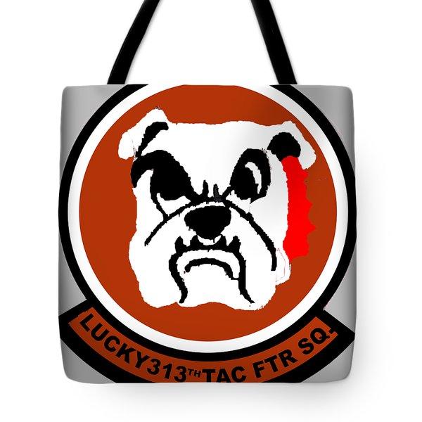 Lucky 313th Tac Ftr Sq Tote Bag