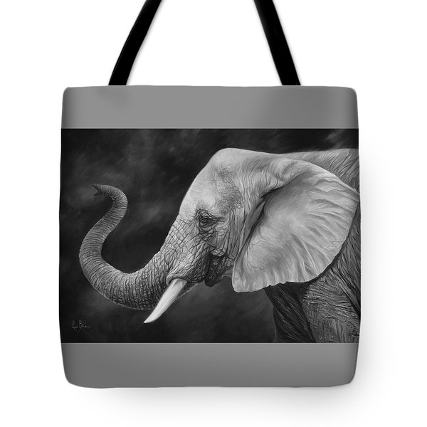 Lucky - Black And White Tote Bag