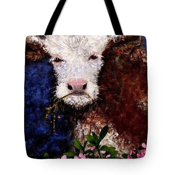 Tote Bag featuring the painting Lucky.. by Cristina Mihailescu