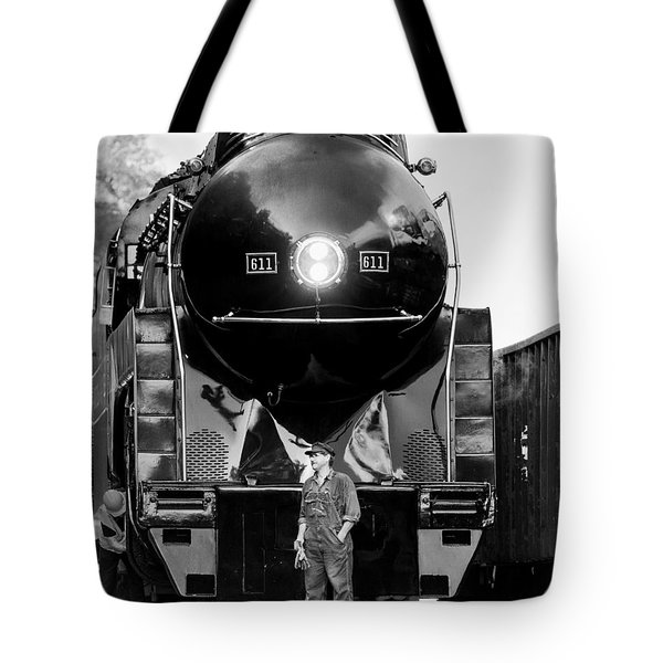 Coal Steel And Steam Tote Bag by Alan Raasch