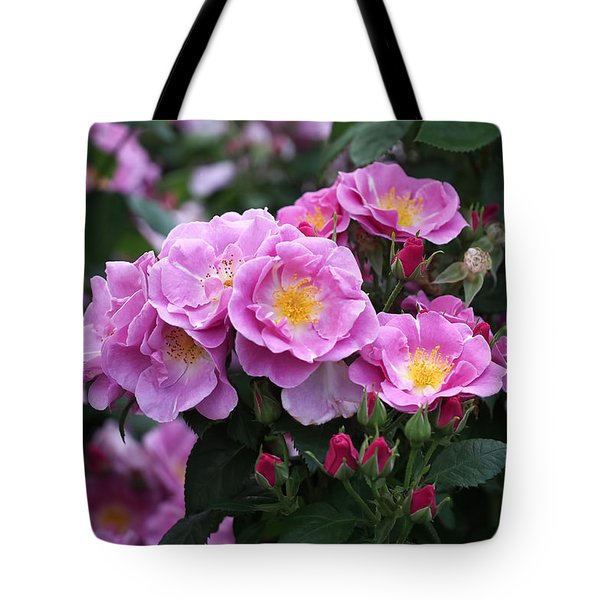 Lucky Floribunda Roses Tote Bag by Rona Black
