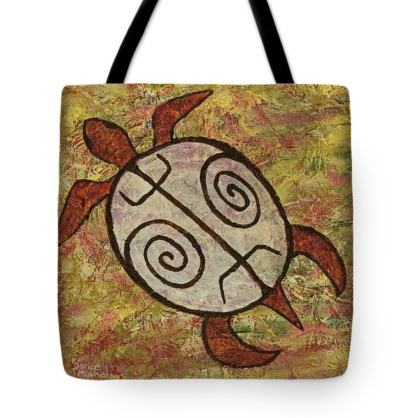 Tote Bag featuring the painting Lucky Honu by Darice Machel McGuire