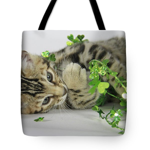 Lucky Kitten Tote Bag by Shoal Hollingsworth