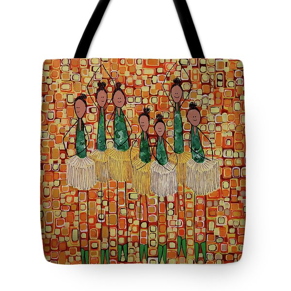Tote Bag featuring the painting Lucky Seven by Donna Howard