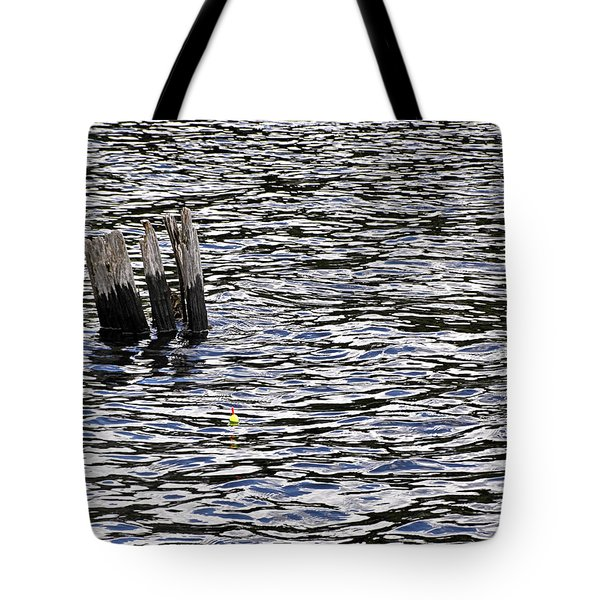 Tote Bag featuring the photograph Lucky Stump by Angie Rea