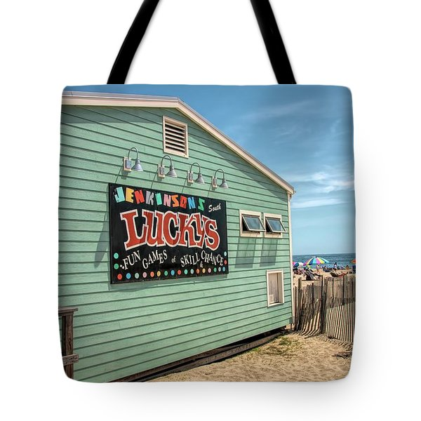 Tote Bag featuring the photograph Luckys At Jenkinsons South by Kristia Adams