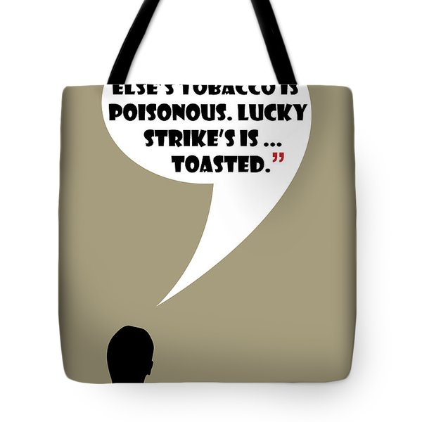 Lucky's Tobacco - Mad Men Poster Don Draper Quote Tote Bag