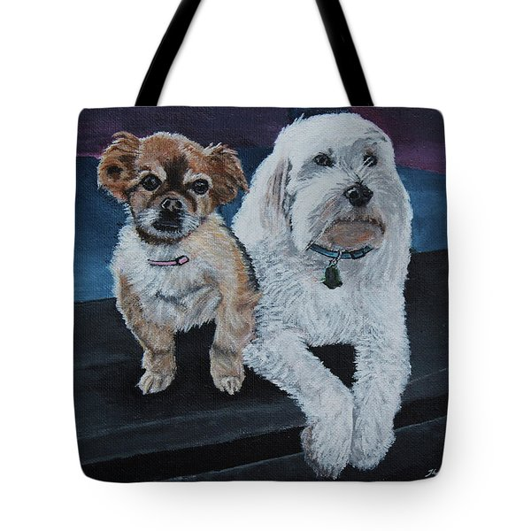 Lucy And Colby Tote Bag