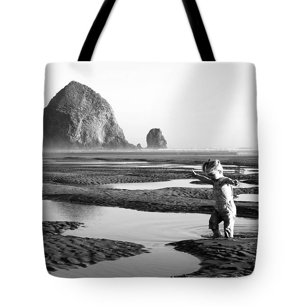 Lucy At Haystack Rock Tote Bag
