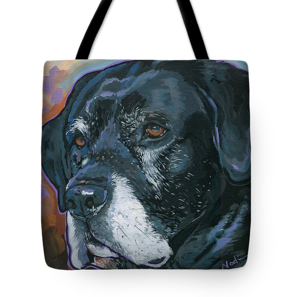 Tote Bag featuring the painting Lucy by Nadi Spencer
