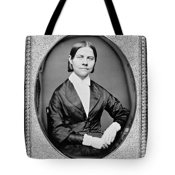 Lucy Stone, American Abolitionist Tote Bag by Photo Researchers