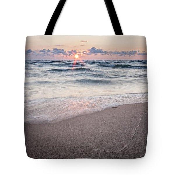 Ludington Beach Sunset Tote Bag