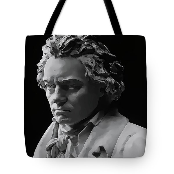 Tote Bag featuring the mixed media Ludwig Van Beethoven by Daniel Hagerman