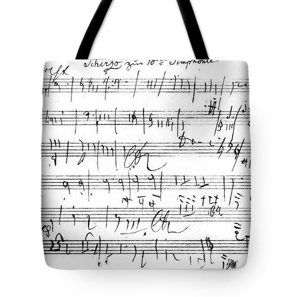 Ludwig Van Beethoven Sketch For Tenth Symphony Tote Bag