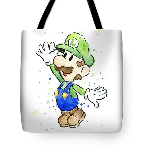 Luigi Watercolor Tote Bag