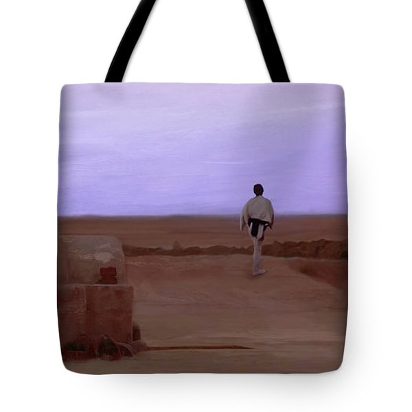 Luke Skywalker Tatooine Sunset Tote Bag