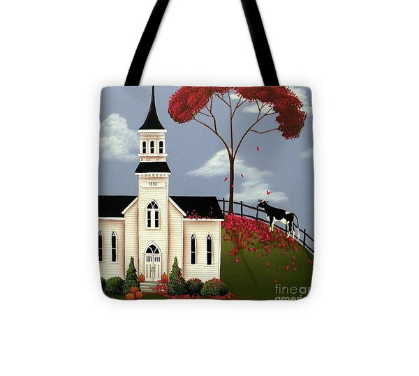 Lulabelle Goes To Church Tote Bag by Catherine Holman