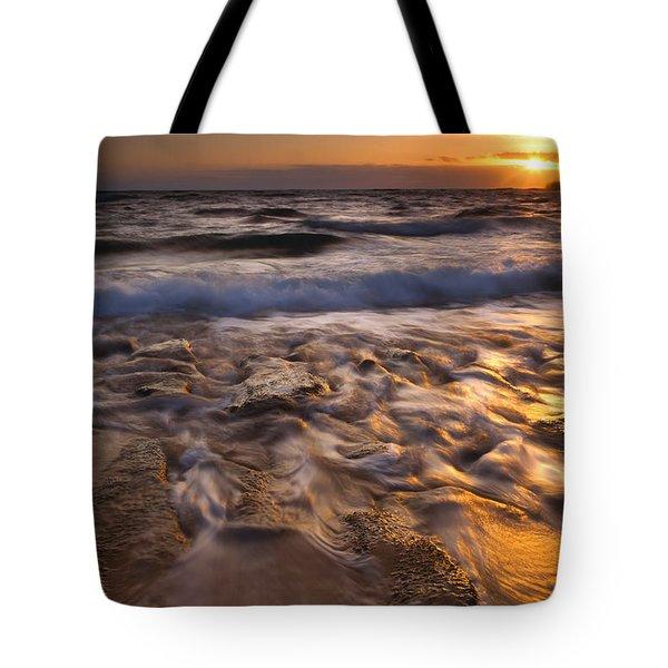 Lumaha'i Dawn Tote Bag by Mike  Dawson