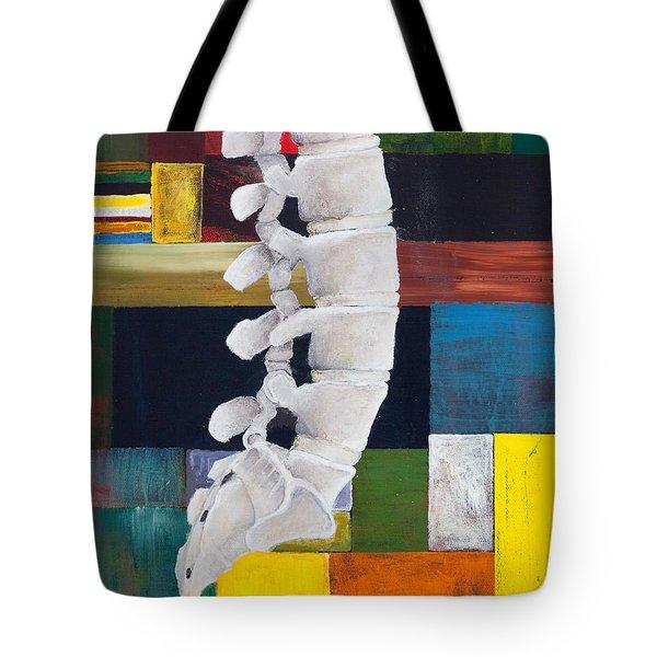 Lumbar Spine Tote Bag by Sara Young