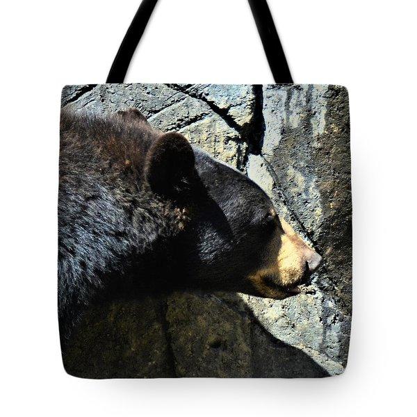 Lumbering Bear Tote Bag