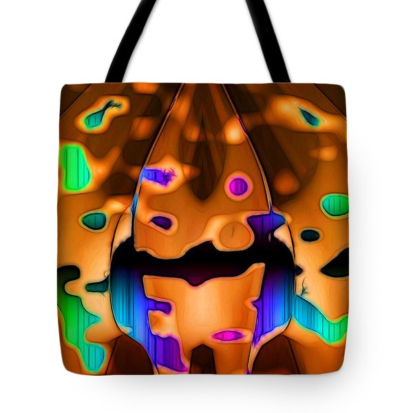 Tote Bag featuring the digital art Luminence by Ron Bissett