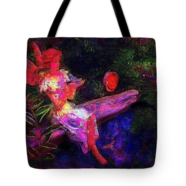 Tote Bag featuring the photograph Luminescent Night Fairy by Lori Seaman