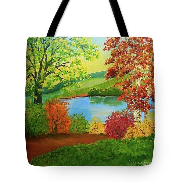 Luminous Colors Of Fall Tote Bag