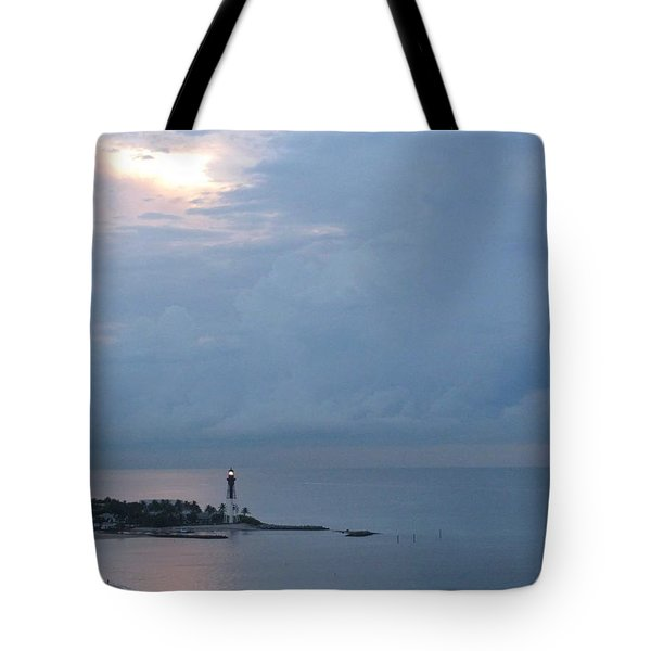 Luminous Lighthouse Tote Bag