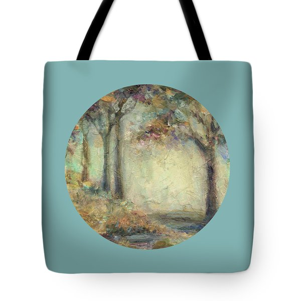 Tote Bag featuring the painting Luminous Landscape by Mary Wolf